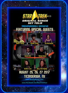 Star Trek Original Series Set Tours. The most accurate reproduction of the Star Trek Set in the world. Verified by original Star Trek cast and crew.