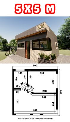 Granny Flat, Small House Design, Minimalist Home, Loft, Interior Design Living Room, Ideas Para, House Plans, Floor Plans, Cabin