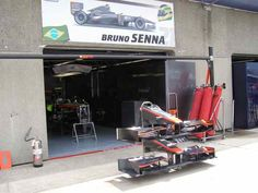 Bruno Senna Garage 2010 Canadian GP Pit Lane (Photo by: Jose Romero Lopez)
