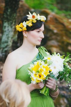 bohemian bridesmaid's look // photo by Milou + Olin // flowers by Soulflower Floral Design // view more: http://ruffledblog.com/oakland-beach-house-wedding/