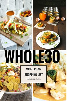 Whole 30 Meal Plan: Week 1 - Naked Cuisine Whole 30 Challenge, Detox Challenge, Whole30 Recipes, Whole30 Plan, Paleo Meals, Whole30 Program, Diet Recipes, Paleo Meal Plan, Banting Recipes