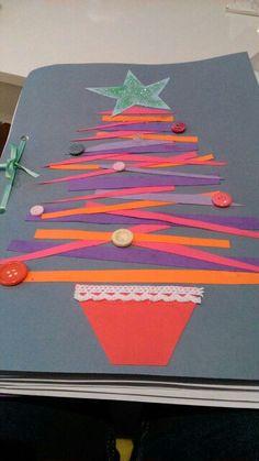 portada, árbol, abeto, navidad