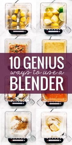 Simply Genius Ways to Use A Blender Ten Surprisingly Genius Ways to Use a Blender! From silky smooth soups to homemade flours to whipped cream - so many fun cooking hacks! Ninja Blender Recipes, Ninja Recipes, Juicer Recipes, Immersion Blender Recipes, Vitamix Soup Recipes, Smoothie Recipes, Nutribullet Recipes, Jelly Recipes, Salad Recipes