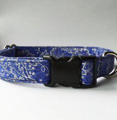 Blue Dog Collar Handmade