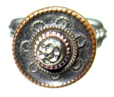 handmade button ring