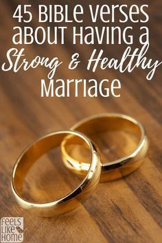 45 Bible Verses about how to have a strong healthy marriage - Problems in marriage can often be solved through a lot of prayer, hard work, and maybe counseling. These scriptures on love and marriage can be read by husband or wife or together as a couple. Marriage Bible Verses, Marriage Words, Bible Verses About Love, Marriage Prayer, Biblical Marriage, Bible Love, Strong Marriage, Marriage Relationship, Happy Marriage