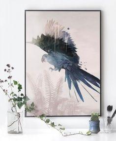 Blue Parrot plakat af Sissan Richardt