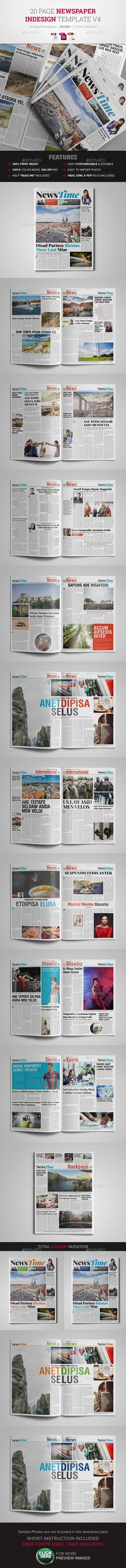 Newspaper Template Pinterest Print Templates Newspaper And