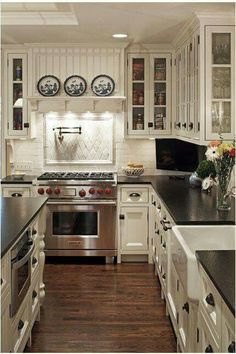 What if this was reversed so that the countertop with stools was what you saw coming in from the back stairs?
