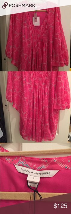 DVF Fleurette Dress Perfect condition new with tags. Fit is loose but size 6 purchased for length Diane von Furstenberg Dresses