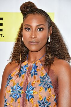 Issa Rae - 21 Half Up, Half Down Hairstyles To Covet When You Can't Make Up Your Mind