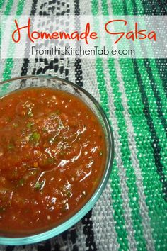 This is the easiest recipe ever and it tastes like the stuff from the restaurant. I like to make extra and freeze it.   Homemade Salsa