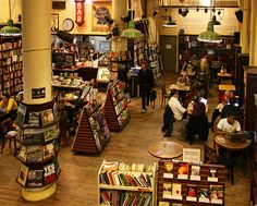 I want to work at a bookstore (capitola book cafe) when im old enough. I think that would be so fun, just working around books and warm cups of coffee all the time