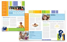 Learning Center and Elementary School Newsletter Design Template by StockLayouts