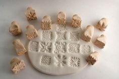 Texture Stamp RANDOM Variety Pack Clay Tools Set of Four Shapes ...