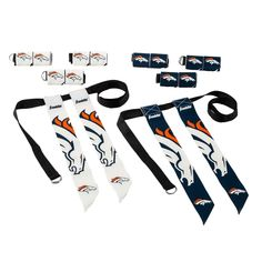 Get ready to tear up the field with the new NFL team Flag Football Sets! These tear-away flag sets are the perfect addition to any organized or recreational flag football team. Each set outfits 8 players for 4-on-4 play, and includes 8 adjustable belts, each with 2 flags. The flags come in home and away colors, and easily tear away when pulled. Whether paying with friends in the backyard or competing in a league, these flags sets are all you will need to take the game to the next level… Youth Flag Football, Pro Football Teams, Cincinnati Bengals, Indianapolis Colts, All Nfl Teams, Arizona Cardinals, Detroit Lions, Atlanta Falcons, Carolina Panthers