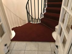 Spiral Staircase, Carpet Runner, Red Carpet, Stairs, Home Decor, Spiral Stair, Stairway, Decoration Home, Staircases