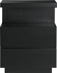 Pavillion Black Nightstand in Nightstands | Crate and Barrel