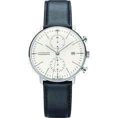 Junghans Max Bill Chronoscope Automatic Chrono Watch | Black Calfskin 027/4600.00