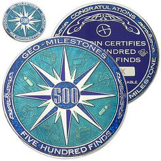 500 finds geo-milestones geocoin and pin set - #award your #geocaching #success,  View more on the LINK: 	http://www.zeppy.io/product/gb/2/322163283643/