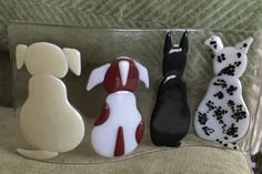 Fused glass - dogs