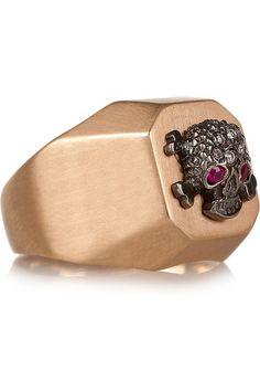 Ileana Makri rose gold & diamond ring