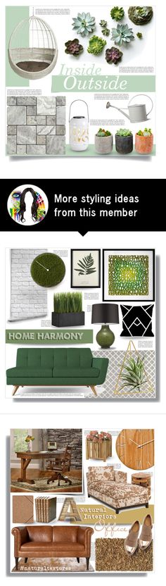 """""""Inside Outside"""" by tammara-d on Polyvore featuring interior, interiors, interior design, home, home decor, interior decorating, CB2, Shop Succulents, Garden Trading and Thos. Baker"""