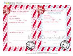 Free Letters to Santa by Three Little Monkeys Studio