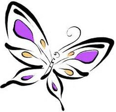 Butterfly And Flower Clipart - Free Clip Art Images Butterfly Tattoo Cover Up, Butterfly Outline, Butterfly Tattoo On Shoulder, Cartoon Butterfly, Butterfly Clip Art, Butterfly Drawing, Butterfly Tattoo Designs, Butterfly Fairy, Purple Butterfly
