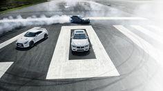 Fantastic looking donuts and car line-up via topgear.com