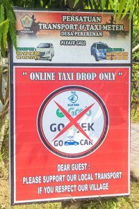 The taxi industry in Bali is controled by a mafia that prevents outside competition through violence and intimidation in order to fix prices. Ubud Palace, Taxi App, Bad Drivers, Mafia