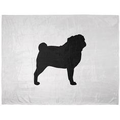 Pug Silhouette Soft Plush Blanket #AnimalWorld