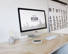 Workspace and home office inspiration. Mac Desk, Tiny Home Office, Mac Ipad, Dream Desk, Desk Space, Desk Setup, Apple Products, App Design, Creative