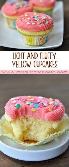 Move over cake mix. These from-scratch light and fluffy yellow cupcakes are fantastic.