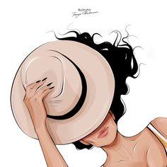 Illustration Mignonne, Beauty Illustration, Mode Poster, Tout Rose, Cute Girl Drawing, Digital Art Girl, Cartoon Art Styles, Beauty Art, Fashion Sketches