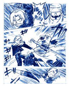 FAN ART: Viñeta Comic de Full Metal Alchemist [Peleando] por CRS | CRS: Mis Dibujos de Anime Manga