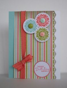 Handmade Card Stampin Up card