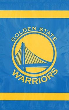 Show your Warriors pride! This giant, beautiful banner is part of Party Animal's premium-quality Applique Fabric Banner collection, featuring the bold team colors and logo art of the NBA's dominating Bay Area franchise, embroidered on both sides of a heavy-duty 420 denier nylon flag. Complete with rings at the top for easy hanging, this is an innovative, heavy-duty product that can be flown on a flagpole outside, hung on a curtain rod inside, or simply pinned to the wall like a regula...