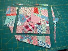 Several folks have emailed and asked how I made the crazy blocks for the Vintage Windows quilt. A few suggested that I do a tutorial. Me? ...