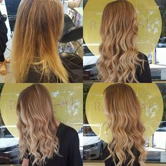 Weekend colour work by our Director, Gina. #beforeandafter shot of our makeover on this gorgeous Blondie creating more dimension throughout with perfect colour placement & colour choice #dimensionalcolour #colourcorrection #couturecolour #theradicalhairdesign #goldenblondes #blondelife #blondes #hairinspo #hairlife #instahair #foildesign #beachyblonde #olaplex #olaplexau #sydneyhairsalons #sydneysbestcolourist #colourmyworld #welovetocolour #thehills #highlights #wellafamily #wellalife