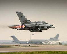 A Tornado on route from RAF Brize Norton to Nevada, USA to participate in exercise Red Flag.