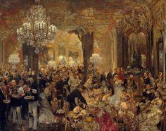 La cena y el baile, Adolph von Menzel (1878) Alte Nationalgalerie, Berlín.