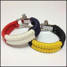Tough Bands Survival Bracelets Tricolor Fishtail Paracord Bracelets
