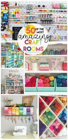 50 craft rooms - A girl and a glue gun