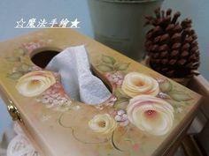 玫瑰迷情-傢飾面紙盒 - ★魔法精緻手繪坊☆雲林縣斗六市~木器彩繪教學 - Yahoo!奇摩部落格