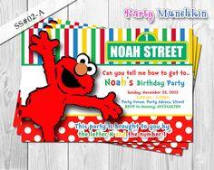 4e0978b7e8c5b5d52c0a389c5ad688bc sesame street invitations elmo invitations sesame street invitation elmo invitation cookie monster,Elmo Invitations Etsy