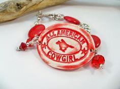 Western Jewelry Cowgirl Bracelet  Rodeo Jewelry by babbleon, $35.00