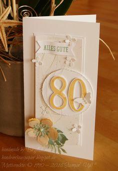 Heute feierte meine Tante ihren 80. Geburtstag und passend zum Geschenk brauchten wir natürlich eine schöne Karte...............      Wie ic...