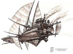 Resultado de imagen de airship Concept Art