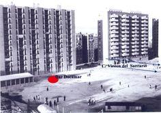 Panorámica de 1961 del terreno donde se ubicaría posteriormente la actual €œPlaza de Quintana€. En el centro y al fondo, grupo de viviendas baratas construidas por la Obra Sindical del Hogar. Foto cedida por Fernando Pérez Peña.